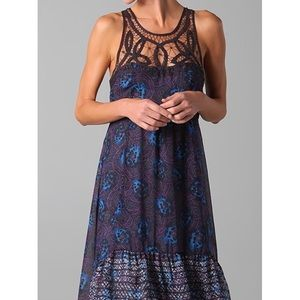 Free People Native Rose High Low Chiffon Dress